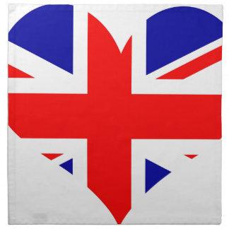 Union Jack Heart Flag Napkin