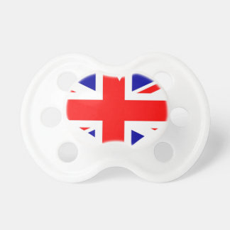 Union Jack Heart Flag Pacifier