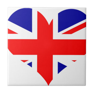 Union Jack Heart Flag Tile
