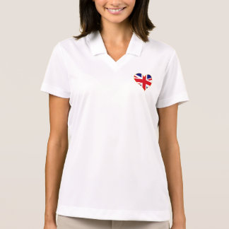 Union Jack heart ladies polo
