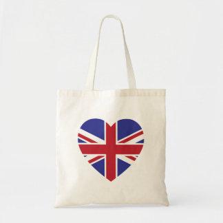 Union Jack Heart Tote Bag