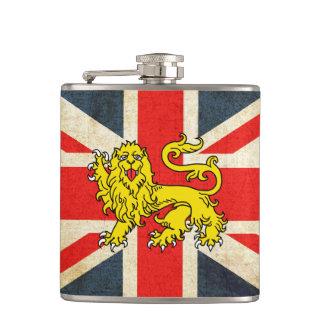 Union Jack Heraldry Lion Custom Flask