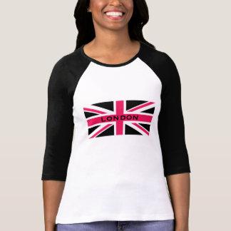 Union Jack ~ Hot Pink Black and White T-Shirt