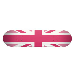 Union Jack ~ In Girly Pinks Skateboard Deck