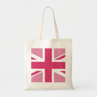 Union Jack ~ In Girly Pinks Tote Bag