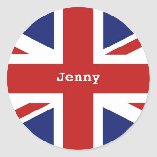 Union Jack, Jenny Classic Round Sticker