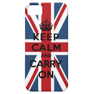 Union Jack Keep Calm And Carry On iPhone 5 Case