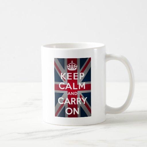 Union Jack Keep Calm And Carry On Mugs