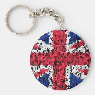 Union Jack - key ring Basic Round Button Keychain