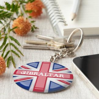 Union Jack KeyRing Basic Round Button Keychain