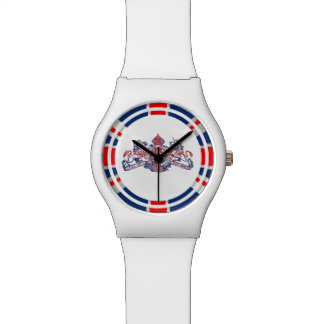 Union Jack Lion Unicorn British Coat of Arms White Watch