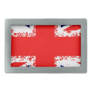 Union jack london flag uk rectangular belt buckle