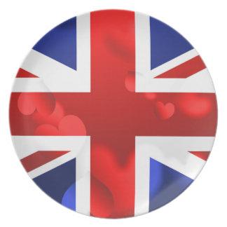 Union Jack Love Plate