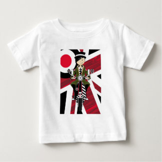 Union Jack Mod Girl on Scooter Baby T-Shirt