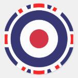 Union Jack Mods England Target Round Sticker
