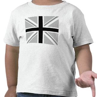 Union Jack monochrome carré de drapeau T-shirts