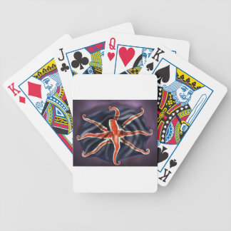 Union Jack Octopus Bicycle Playing Cards