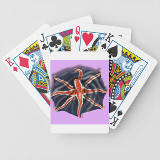 Union Jack Octopus Light Bicycle Playing Cards