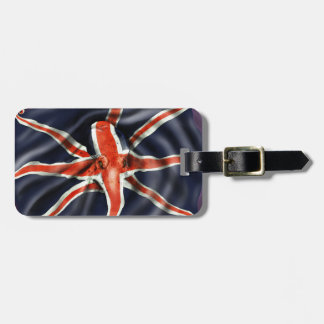 Union Jack Octopus Luggage Tag