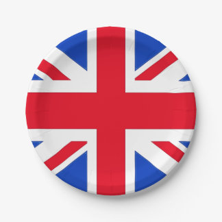 Union Jack Party Plates 7 Inch Paper Plate