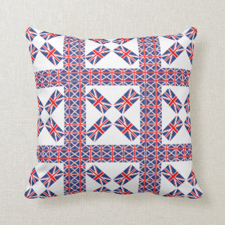 UNION JACK PATTERN PILLOW