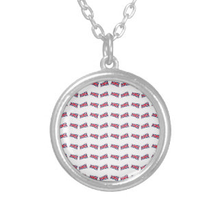 Union Jack Pattern Silver Plated Necklace