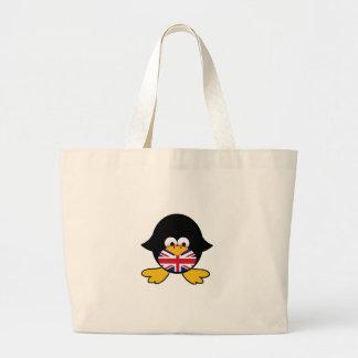 Union Jack Penguin Large Tote Bag