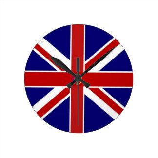 Union Jack Pentagram Flag Round Clock