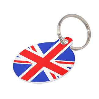 """UNION JACK"" PET TAG"