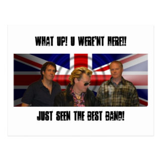 union jack photo, JUST SEEN THE BEST BAND!, WHA... Postcard
