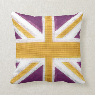 Union Jack Purple Throw Pillow
