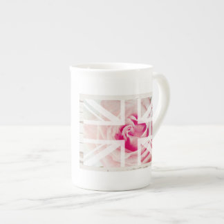 Union Jack Rose Bone China Mug