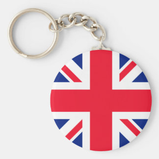 Union Jack Roundel Basic Round Button Keychain