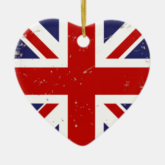 Union Jack Shabby Chic Ceramic Ornament