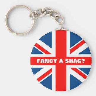 Union Jack shag Keychain