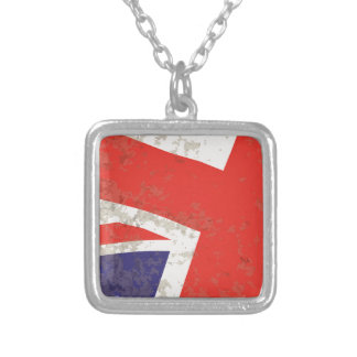 Union Jack Silver Plated Necklace