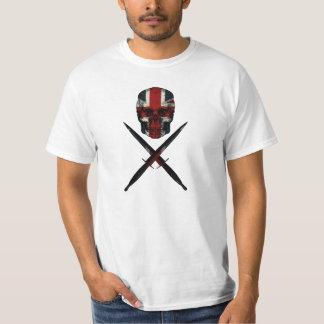union jack skull and crossed commando dagger T-Shirt