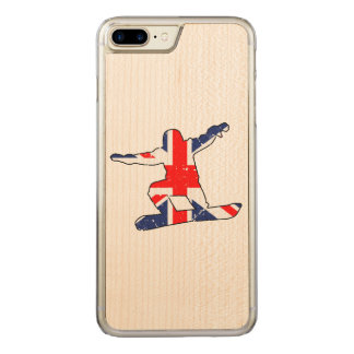 Union Jack SNOWBOARDER (blk) Carved iPhone 7 Plus Case