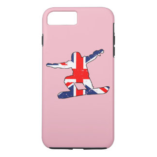 Union Jack SNOWBOARDER (blk) Case-Mate iPhone Case