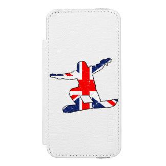 Union Jack SNOWBOARDER (blk) Incipio Watson™ iPhone 5 Wallet Case