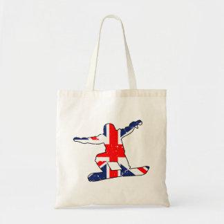 Union Jack SNOWBOARDER (blk) Tote Bag