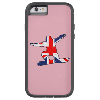 Union Jack SNOWBOARDER (blk) Tough Xtreme iPhone 6 Case