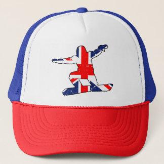 Union Jack SNOWBOARDER (blk) Trucker Hat