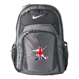 Union Jack SNOWBOARDER (wht) Backpack