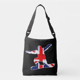 Union Jack SNOWBOARDER (wht) Crossbody Bag