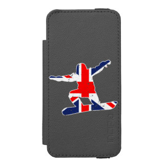Union Jack SNOWBOARDER (wht) Incipio Watson™ iPhone 5 Wallet Case