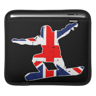 Union Jack SNOWBOARDER (wht) iPad Sleeve