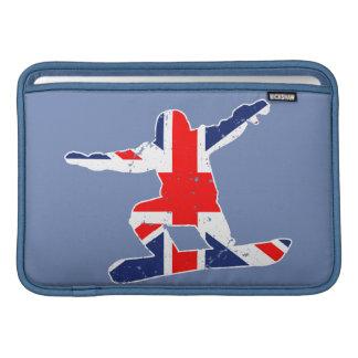 Union Jack SNOWBOARDER (wht) MacBook Sleeve