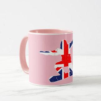 Union Jack SNOWBOARDER (wht) Mug