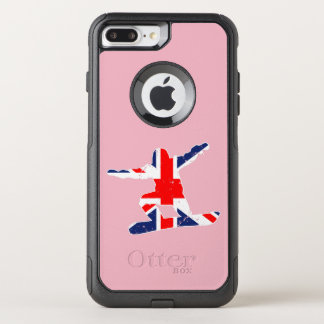 Union Jack SNOWBOARDER (wht) OtterBox Commuter iPhone 8 Plus/7 Plus Case
